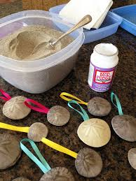 diy sand dollar ornament craft from pismo vacation