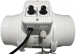 extracteur chambre de culture vents extracteur de gaine ttun 125mm 280m3 variateur de vitesse et