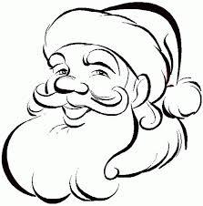 christmas santa claus coloring pages printable kids