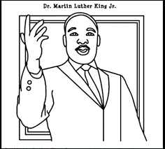 martin luther king coloring sheets for kindergarten jr pages