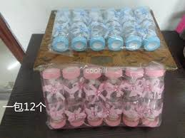 baby shower bottle favors 2018 plastic baby sucker candy box bottle baby shower