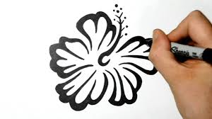 how to draw an hawaiian flower tribal tattoo design style youtube