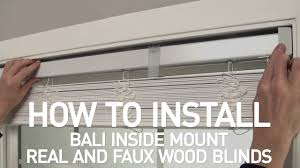 Bali Wooden Blinds How To Install Bali Real Wood And Faux Wood Blinds Inside Mount