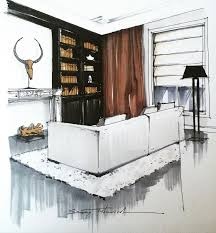 Interior Sketch by 494 Best Rendus Sketchs Trucs Images On Pinterest Interior