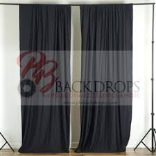 Black Backdrop Curtains 10 Ft X 10 Ft Polyester Professional Backdrop Curtains Drapes