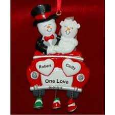 our new family fireplace newlyweds ornament honeymoon ornaments