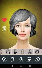 virtual hair colour changer hairstyle changer app virtual makeover women men android apps
