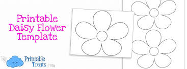 10 best images of printable daisy flower template daisy flower