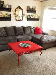 coffee table 3087 modern black and red leather sectional sofa