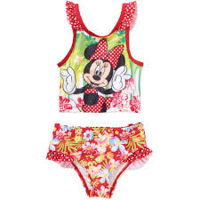Minnie Mouse Clothes For Toddlers Minnie Mouse Toddler Tankini Swimsuit Walmart Com