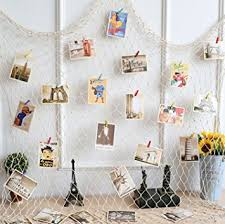 hanging pictures with wire and clips amazon com gorse photo hanging display fishnet wall decor