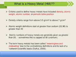 what are the heavy metals on the periodic table heavy metal pollution and remediation in urban and peri urban agricul