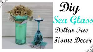 diy sea glass dollar tree home decor youtube