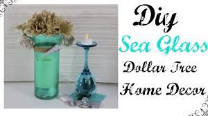 sea glass home decor diy sea glass dollar tree home decor youtube