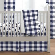Plaid Crib Bedding Navy Buffalo Check Crib Bedding Carousel Designs