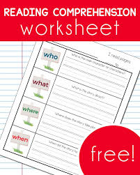 reading comprehension worsheet comprehension reading