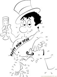 wishing happy new year dot to dot printable worksheet
