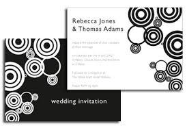 black and white invitations circle print black and white wedding invitation trendy mods