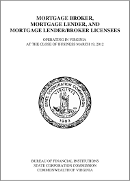 bureau of financial institutions mortgage broker mortgage lender and mortgage lender broker
