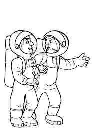 astronaut coloring page two astronauts preparing for the moon project coloring page