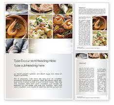 sea food recipes word template 10779 poweredtemplate com
