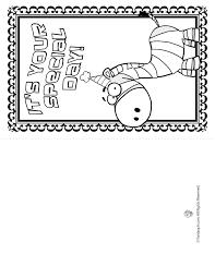 printable coloring birthday cards cute zebra woo jr kids