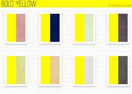 Yellow Color Combinations Using Yellow Bold Yellow Color Inspirations Pinterest Bald