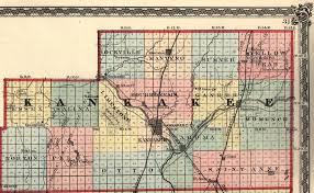 Illinois Map With Counties by Kankakee County Illinois Maps And Gazetteers