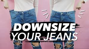 how to downsize how to downsize jeans resize waist legs withwendy youtube