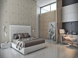 bedroom white headboards white platform bed concrete wall design