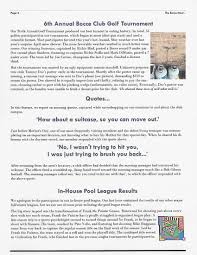 Charity Golf Tournament Welcome Letter the bocce club