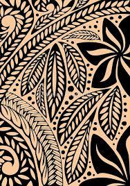 light skin colored retro colored hawaiian polynesian tribal floral