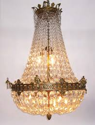 Basket Chandeliers A 19th 20th Century Empire Style Gilt Bronze And