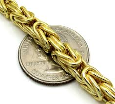 mens byzantine necklace gold images 10k yellow gold byzantine chain 24 30 inch 5 8mm jpg
