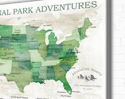 map us national parks national park map etsy