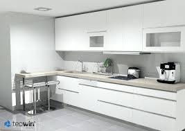 cuisine lineaire cuisine lineaire design 3 metres lolabanet com