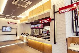 Interior Designs For Restaurants by Kfc Mongolia Order Counter With Pipes For Signage Interior
