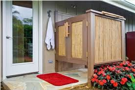 How To Build An Outdoor Shower Enclosure - important things to consider when designing outdoor shower