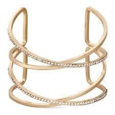 double cross bracelet images Sugarfix by baublebar double cross crystal cuff bracelet clear