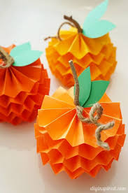 Paper Crafts - how to make paper pumpkins for fall craft paper pumpkin and