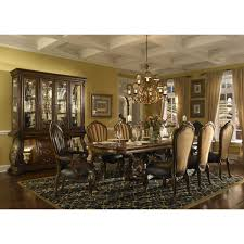Aico Furniture Dining Room Sets Michael Amini Palace Gate Rectangular Trestle Dining Set In Royal