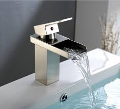 bathroom waterfall faucets vessel sink with faucet bronze