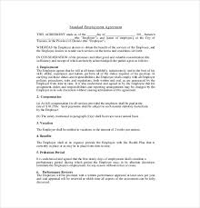 11 employment agreement templates u2013 free sample example format