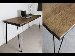 industrial hairpin leg desk industrial desk with hairpin legs russelloakandsteel com youtube