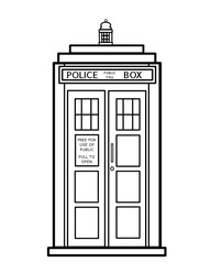 tardis colouring coloring doctor doctor