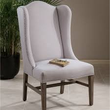 dining room endearing aleela linen wing chair weathered pine