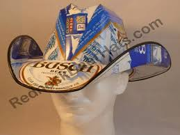 bud light beer box hat busch beer box cowboy hats cases carton box hat