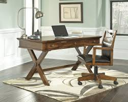 ashley burkesville um brown x base home office desk and chair set throughout writing desk with chair