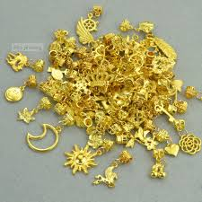 shop new 120g mixed wholesale metal charms gold big