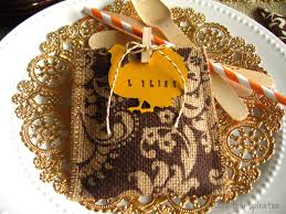 thanksgiving favor place card setting ode to inspiration